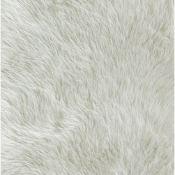 Jungle Sheep Skin White Rug - Warm up a room with this Jungle faux sheepskin rug. Soft underfoot, it is a rug the whole family will love.