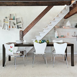 Parsons Expandable Dining Table - Streamlined design meets contemporary proportions in our versatile, expandable dining table.