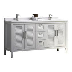 MADRID II 60 INCH BATH VANITY. WHITE MATT - Will be available in stock as of august 31