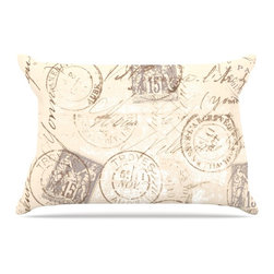 """Kess InHouse - Heidi Jennings """"World Traveler"""" Brown Pillow Case, Standard (30"""" x 20"""") - This pillowcase, is just as bunny soft as the Kess InHouse duvet. It's made of microfiber velvety fleece. This machine washable fleece pillow case is the perfect accent to any duvet. Be your Bed's Curator."""