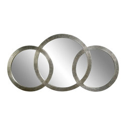 Bassett Mirror - Libra 3 Ring Silver Leaf Mirror - Libra 3 Ring Silver Leaf Mirror by Bassett Mirror