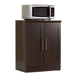 Sauder - Sauder Homeplus Base Cabinet in Dakota Oak - Sauder - Microwave Carts - 411591 -