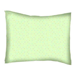 SheetWorld - SheetWorld Twin Pillow Case - Percale Pillow Case - Pastel Colorful Pindots Mint - Baby/Toddler pillow case. Made of an all cotton percale fabric. Opening is in the back center and is envelope style for a secure closure. Features the pastel colorful pindots mint woven.