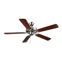 "Monte Carlo - Monte Carlo Homebuilder I Builder Fan 52"" 5 Blade Indoor Ceiling Fan with Blades - Features:"