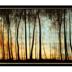 Artcom - Golden Forest by Carolyn Reynolds - Golden Forest by Carolyn Reynolds is a Framed Art Print set with a ALLEGRO Bronze wood frame.