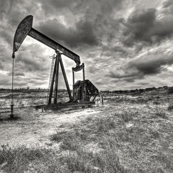 Coming Storm - Pump Jack on the plains of West Texas before a coming storm