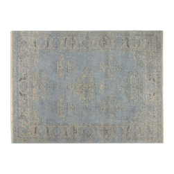 Uttermost - Uttermost Yalova 8 x 10 Rug - Blue 70014-8 - Hand Knotted Wool In A Heavily Washed Pale Blue And Beige With Subtle Details.