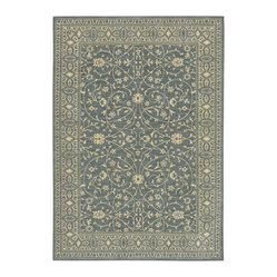 Karastan English Manor 2120-00539 Somerset Lane Blue Rug