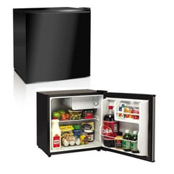 Midea - 1.7 Cubic Foot Refrigerator, Black - 1.7 cubic foot refrigerator with black finish. Environment-friendly technology professional and energy saving. Reversible door-left or right swing. Convenient racks on door separate chiller compartment.