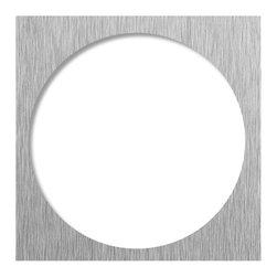 Tileredi - TileRedi DP-SQT-BN 5.75 Sq Brushed Nickel Trim - TileRedi DP-SQT-BN 14 Gauge Stainless Steel Drain Plate Trim, 5.75 Square Plate,  Brushed Nickel finish