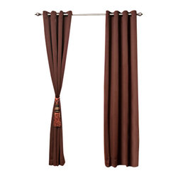 """Best Home Fashion - Solid Grommet Top Thermal Insulated Blackout Curtains - 1 Pair, Chocolate, 120"""" - Bring warmth and style to your home with high-quality insulated Blackout window curtain pair. The grommet top adds a modern touch and provides energy efficient comfort. It features innovative fabric construction. Compared to other curtains, our product is extremely SOFT and DRAPERY. The sophisticated designs allow you to decorate your windows with great style. NEVER compare our Blackout Curtains with those cheap ones that are stiff and looks like a shower curtain. Blackout is perfect for : Late sleepers Shift workers Seniors Infants & parents Students Computer operators Care instruction : -Machine wash warm with like colors. -Use only non-chlorine bleach when needed. -Tumble dry low. -Warm iron as needed"""