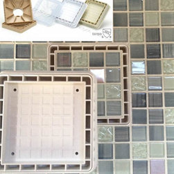 Tile  Insert Drain 5 inch - Tile Drain Insert 5 inch - The most easy to tile square shower drain. Your tiles are square, so why not have a square shower drain cover to match? Installing round drains can be a difficult and time consuming endeavor due to all of the grinding that needs to be done to get your tile to fit around the drain. Eliminate all of that unnecessary work by installing this fantastic, stylish square tile insort shower drain.