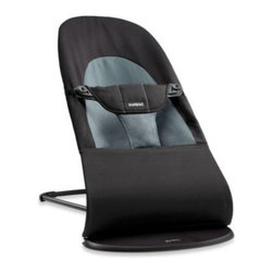 Babybjorn - BABYBJORN Bouncer Balance Soft in Black/Dark Grey - Let the soft fabrics and round forms of the Bouncer Balance Soft by BabyBjorn surround your little one in extra-cozy comfort. The ergonomic design provides proper support, while its rocking action helps develop motor skills and balance in a natural way.
