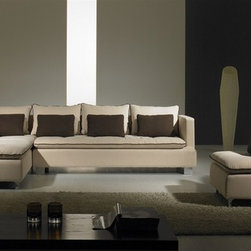 Resto Microfiber Sectional Sofa Set - Bring a comfortable and versatile influence to your home decor with this Resto 3-Pieced Fabric Sectional Sofa Set.