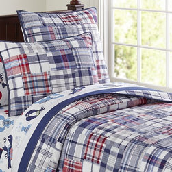 Madras Quilted Bedding - I am a big fan of Pottery Barn bedding, especially for my kids. The quilts hold up well when washed and last for years. This plaid pattern is mature enough for my son's new big boy room, but isn't over the top or too juvenile for him to use for years.