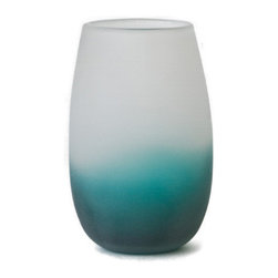 18KARAT - Emerald Ombre Bouquet Vase - In the fashion world, the Ombre trend is in everything from clothing to nail polish. 18KARAT is introducing Ombre styles into home decor. The process is used to create a gentle progression of color from light to dark. Ombre effects can add a light and airy feel to any space. Foodsafe.