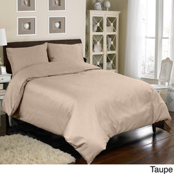 Grand Luxe - Grand Luxe Egyptian Cotton Sateen 300 Thread Count 3-piece Mini Duvet Cover Set - This comfortable mini duvet cover set is just the item you need to spruce up your bed. It is made of Egyptian cotton,which is warm yet light. The set includes two duvet covers and two shams,and is available in your choice of colors.