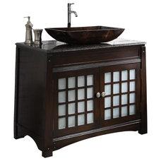 "Modern Bathroom Vanities And Sink Consoles Dark Granite Counter Top Vessel Sink Rosario Bath Vanity 38"""