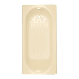 American Standard - American Standard Princeton Integral Apron Bath with Luxury Ledge (2394.202.021) - American Standard 2394.202.021 Princeton Integral Apron Bath with Luxury Ledge and Left Hand Outlet, Bone