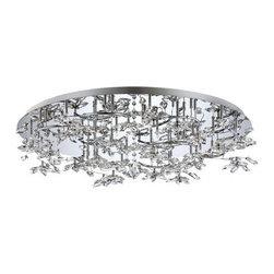 Eurofase Lighting - Eurofase Lighting 25680 Vista 24 Light Modern Flush Mount Ceiling Fixture - Features: