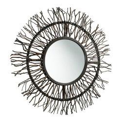 Cyan Design - Cyan Design 38 Inch Round Branch Round Mirror in Brown - 38 Inch Round Branch Round Mirror in Brown