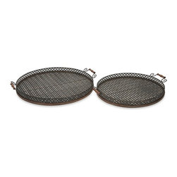 iMax - Regency Oversized Trays, Set of 2 - Great for entertaining, the Regency oversized trays are perfect for an outdoor barbeque or party.