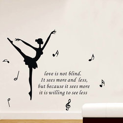 ColorfulHall Co., LTD - Love Wall Sticker Love is Not Blind - Love Wall Sticker Love is Not Blind
