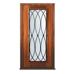 "Prehung Single Door 80 Wood Mahogany La Salle Full Lite Wrought Iron - SKU#    P09662WL-G-WPFL1LBrand    GlassCraftDoor Type    ExteriorManufacturer Collection    Full Lite Entry DoorsDoor Model    La SalleDoor Material    WoodWoodgrain    MahoganyVeneer    Price    2385Door Size Options      +$percent  +$percentCore Type    Door Style    Door Lite Style    Full LiteDoor Panel Style    Home Style Matching    Door Construction    PortobelloPrehanging Options    PrehungPrehung Configuration    Single DoorDoor Thickness (Inches)    1.75Glass Thickness (Inches)    Glass Type    Double GlazedGlass Caming    Glass Features    Low-E , TemperedGlass Style    Glass Texture    Water , Flemish , Baroque , Fluted , Rain , Glue Chip , ClearGlass Obscurity    Light Obscurity , Moderate Obscurity , Highest Obscurity , No ObscurityDoor Features    Door Approvals    Wind-load Rated , FSC , TCEQ , AMD , NFRC-IG , IRC , NFRC-Safety GlassDoor Finishes    Door Accessories    Weight (lbs)    310Crating Size    25"" (w)x 108"" (l)x 52"" (h)Lead Time    Slab Doors: 7 Business DaysPrehung:14 Business DaysPrefinished, PreHung:21 Business DaysWarranty    One (1) year limited warranty for all unfinished wood doorsOne (1) year limited warranty for all factory?finished wood doors"