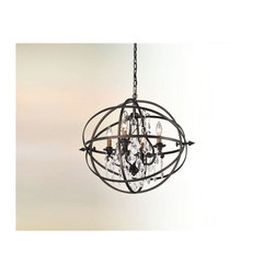 Troy Lighting - Byron Pendant - Byron Pendant features Crystals hanging from a Vintage Bronze finish. 60 watt, 120 volt CA8/Candelabra incandescent bulbs are required, but not included. Small: 20.25 inch width x 21 inch height. Medium: 26.25 inch width x 27.25 inch height. Large: 32.5 inch width x 33.5 inch height. Extra Large 41.5 inch width x 41.5 inch height.