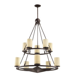 Quorum International - Quorum International 6228-10-44 Lone Star Sienna 10 Light Chandelier - Quorum International 6228-10-44 Lone Star Bronze 10 Light Chandelier