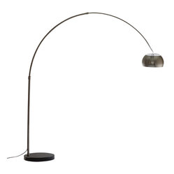 Arco Style Lamp with Black Round Marble Base