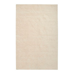 Surya Rugs - Sculpture Designer Hand Loomed 100% Wool Tan Rug SCU-7511 - 100% Wool. Style: Designer. Rugs Size: 5' x 8'. Note: Image may vary from actual size mentioned.
