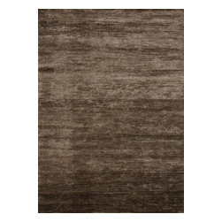 Loloi - Loloi Byron Collection BYROBB-01WA0086B6 Rug - Hand-knotted in India of 100 percent Bamboo silk, the Byron Collection upgrades upscale modern and transitional room settings with a dose of sleek style. Its natural luster adds vibrancy to this series of solid, tonal designs.