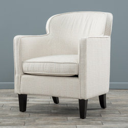 Christopher Knight Home - Christopher Knight Home Lampman Fabric Club Chair - The rounded frame and cushion design offers a modern touch of class while still retaining all of the comfort benefits of a club chair. With an innovative look and attention to detail this chair is a perfect blend of form and function.