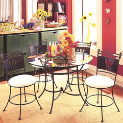 Chili Pepper Dining Chair - Our line of laser cut chairs are simply the highest quality chairs you will find in this category. While most other metal lines are now doing lasers, none have taken as much care in producing a clean comfortable chair that not only looks good but feels good as well. This chair is available on a stationary or swivel base.