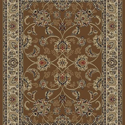 Ottomanson - Brown Traditional Oriental Design Rug - Royal Collection offers a wide variety of machine made modern and oriental design area rugs with durable, stain-resistant pile in trendy colors.