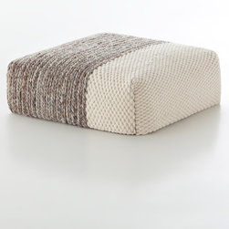 Gandia Blasco - Gandia Blasco Mangas Square Plait Ivory Pouf - This pouf comes from the Gan Collection with Gania Blasco. It is made from 100% Wool. The pouf is filled with polyester and foam rubber for support. This pouf comes in four different colors.