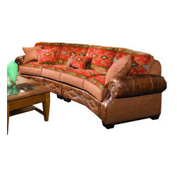 Chelsea Home Furniture - Chelsea Home 2-Piece Sectional in Downing Harvest - Stagecoach Redwood Pillows - Jackson 2-Piece Sectional in Downing Harvest - Stagecoach Redwood Pillows belongs to the Chelsea Home Furniture collection