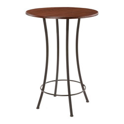 Bistro Bar Table (40in. Tall) by Stone County Ironworks - Dimensions: