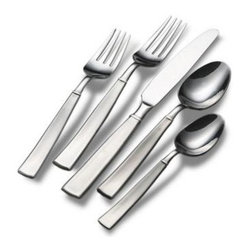 Lifetime Brands - Towle Living Satin Balance 20p - Towle Living 20-Piece Everyday Satin Balance Flatware Set pattern has an attractive broad handle with banding detail and a brushed finish. crafted of superior quality 18/0 stainless steel  this set is ideal for everyday use. dishwasher safe. 20-piece set  service for four  includes (4) each: dinner fork  salad fork  dinner knife  dinner spoon and teaspoon  This item cannot be shipped to APO/FPO addresses. Please accept our apologies.
