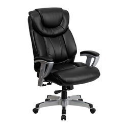 Flash Furniture - Flash Furniture Office Chairs Big and Tall Chairs X-GG-AEL-KB-4351-OG - Get the comfort needed to perform all any task in this stylish and plush padded Big and Tall Office Chair by Flash Furniture. This executive chair comfortably fits users up to 400 lbs. Chair features height and width adjustable arms, built-in lumbar support and a spring tilt mechanism. [GO-1534-BK-LEA-GG]