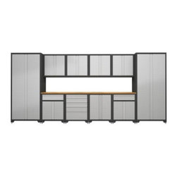 Newage products diamond plate pro series cabinetry 15 ft 4in system 12 piece diamonds aren - Most popular ikea kitchen cabinets for more functional workspace ...