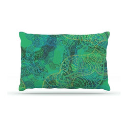 "Kess InHouse - Patternmuse ""Mandala Mint"" Green Abstract Fleece Dog Bed (18"" x 28"") - Pets deserve to be as comfortable as their humans! These dog beds not only give your pet the utmost comfort with their fleece cozy top but they match your house and decor! Kess Inhouse gives your pet some style by adding vivaciously artistic work onto their favorite place to lay, their bed! What's the best part? These are totally machine washable, just unzip the cover and throw it in the washing machine!"