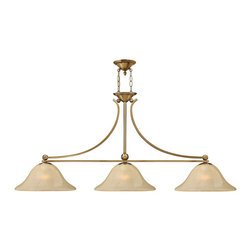 Hinkley Lighting - Hinkley Lighting 4666BR Bolla Transitional Kitchen Island Light / Billiard Light - The graceful lines of Bollas sweeping double arms create a soft elegance  while heavy cast spheres perched at the tips add to its innovative style. The strong proportions of the arms  offered in either Brushed Nickel  Olde Bronze or Brushed Bronze finishe