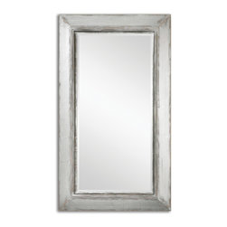 Distressed Aged Silver Mirror with Rustic Brown and Natural Wood Undertones - Distressed Aged Silver Mirror with Rustic Brown and Natural Wood Undertones