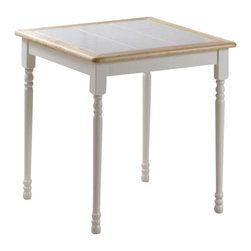 "Boraam - Boraam 30"" x 30"" Square Tile Top Wood Dining Table in White and Natural - Boraam - Dining Tables - 70001 - Boraam's high quality products are well styled and priced right. Benefitting from years of experience in the industry Boraam knows what you look for in quality furniture and takes pride in getting orders out as diligently as possible. Feel confident that Boraam will take your living space to another level. Pair with Boraam's matching dining chairs for a complete set!"