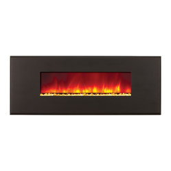Built-In Electric Fireplace, Metal Series