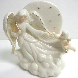 CG - 5 Inch White Angel with Baby Flying In Clouds Porcelain Night Light - This gorgeous 5 Inch White Angel with Baby Flying In Clouds Porcelain Night Light has the finest details and highest quality you will find anywhere! 5 Inch White Angel with Baby Flying In Clouds Porcelain Night Light is truly remarkable.