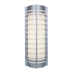 Access Lighting - Access Lighting Kraken Marine Grade Modern /  Contemporary Outdoor Wall Sconce X - From the Kraken Collection, this marine grade Access Lighting outdoor wall sconce is the epitome of clean, modern styling. The elongated body features a simple louver face, which diffuses the lighting. An acrylic glass shade adds to its longevity in near-water homes, with your choice of two equally durable finishes.