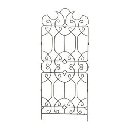 H Potter - H Potter Classic Ornamental Trellis - This charming trellis features a design so pretty it can't be hidden. Classic curls and pointed crests sprout from the top, allowing you to still enjoy the design while the rest of the panels are in use.